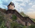 Stadtmauer am Hexenturm - Rekonstruktion